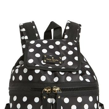 kate spade new york 'clark court - matty' nylon backpack - Black