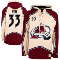 Colorado Avalanche Patrick Roy Vintage Heavyweight Jersey Lacer Hoodie