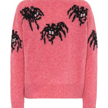 Spider intarsia virgin wool sweater