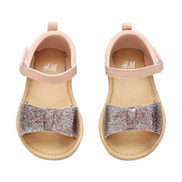 Sandals with Glittery Bow - from H&M