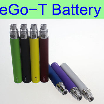 eGo T ecig batteries 650mah 900mah 1100mah electronic cigarettes ego batteries with 510 thread for CE3 CE4 MT3 protank H2 vaporizer