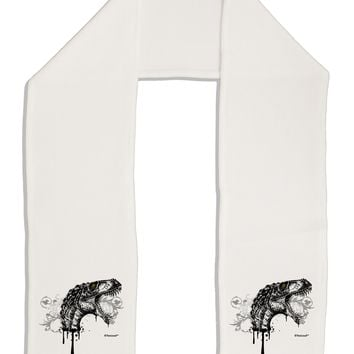 "Artistic Ink Style Dinosaur Head Design Adult Fleece 64"" Scarf by TooLoud"
