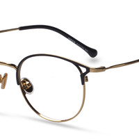 Unisex full frame metal eyeglasses