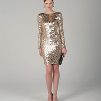 SC1012 Cocktail Dress Low Back Sequined by Badgley Mischka