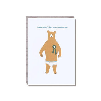 Dad Bear Father's Day Card