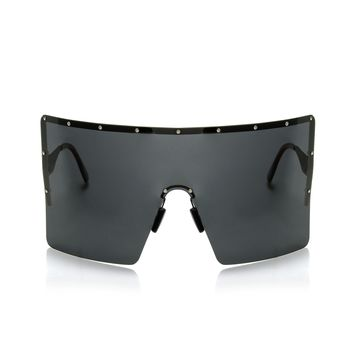 Celina Oversized Sunglasses - Black/Black