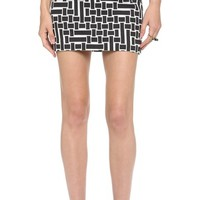 Patchwork Square Knit Skirt