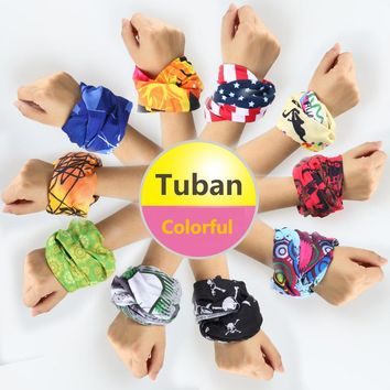 Tuban Seamless Graffiti Scarfs Print Magic Colorful Variety Exotic Sports Scarf Polyester outdoor hiking scarf sunscreen models