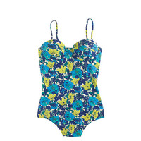 J.Crew Womens Retro Floral Underwire One-Piece Swimsuit