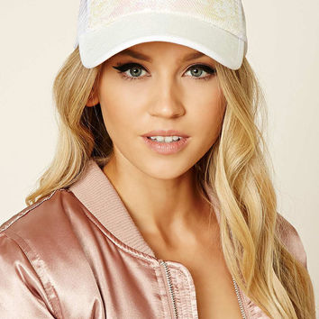 Iridescent Sequin Trucker Hat