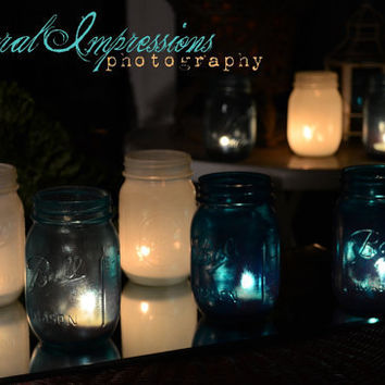 Mason Pint Jars Pick your color Set of 24 by willowfairedecor