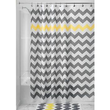 Chevron Fabric Shower Curtain - 4 Colors