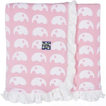 Kickee Pants Essentials Collection Print Ruffle Stroller Blankets