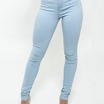 High Waist But Lifting Jeans (Light Wash)