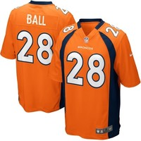 Nike Montee Ball Denver Broncos Game Jersey - Orange
