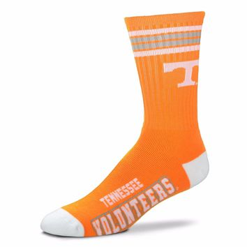TENNESSEE VOLUNTEERS 4 STRIPE ORANGE CREW SOCKS SIZE YOUTH NEW FOR BARE FEET