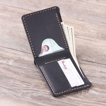 Personalized  Men's Leather wallet -  Bifold Men's Handmade Leather Wallet  - Gift for men