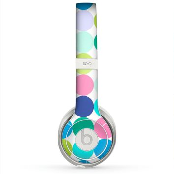 The Vibrant Colored Polka Dot V2 Skin for the Beats by Dre Solo 2 Headphones