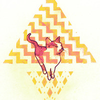 Pastel Cat Pyramid - Limited Edition Print
