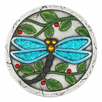 Set of 6 Blue Dragonfly Garden Stepping Stones
