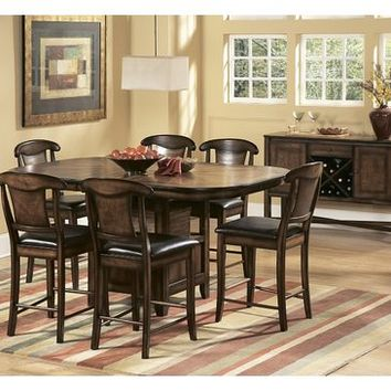 Homelegance Westwood 5 Piece Counter Height Dining Room Set