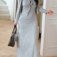 Ilet Dress N Cardigan Set