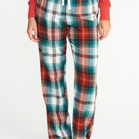 Printed Flannel Sleep Pants for Women | Old Navy