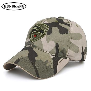 Trendy Winter Jacket New Brand US Army Camo Baseball Cap Men Women Eagle Star Tactical Sun Dad Hat Outdoor Casual Camouflage Snapback Trucker Caps AT_92_12