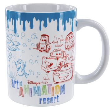 Disney Parks Art Of Animation Resort Ceramic Coffee Mug Ariel Cars Simba New