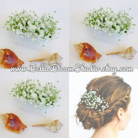 "Baby Breath Comb Fresh Baby""s Breath Hair Comb Bridal Hair Comb Baby's breath hair flower baby breath etsy"