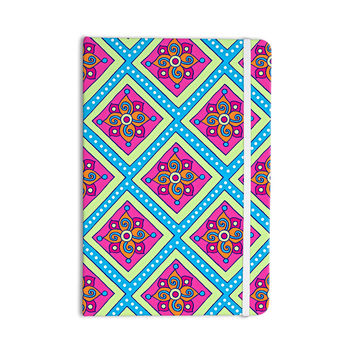 "Sarah Oelerich ""Colorful Diamonds"" Pink Blue Everything Notebook"