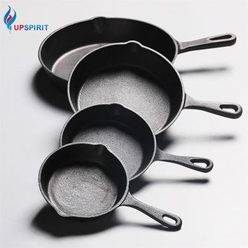 UPSPIRIT Cast Iron Non-stick 14-26CM Skillet Frying Pan for Gas Induction Cooker Egg Pancake Pot Kitchen&Dining Tools Cookware