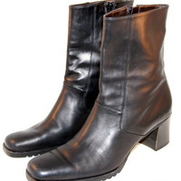 COLE HAAN Boots Mid-Calf Womens Made in Italy Zipper Black Size 9 B