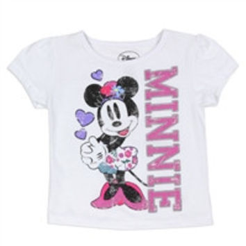 MINNIE MOUSE Girls Toddler T-Shirt-tg-mn6912