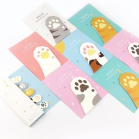 30Sheet/Pcs Kawaii Cat's Paw Diary Memo Pad Sticky Notes Post It Kawaii Planner Scrapbooking Stickers Stationery School Supplies