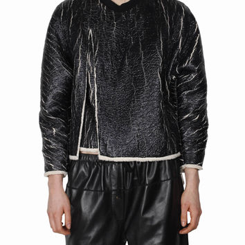 3.1 Phillip Lim Asymmetric Cracked fabric sweatshirt