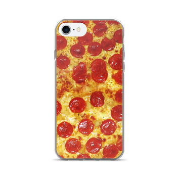 Pepperoni Pizza Print iPhone 7/7 Plus Case