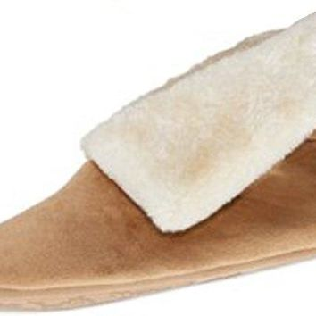 Charter Club Womens Microfiber Velour Bootie Slipper