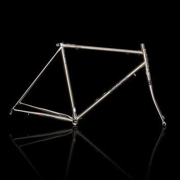 700C Road bike frame chrome molybdenum steel Reynolds 525 frame brushed silver racing bike frame