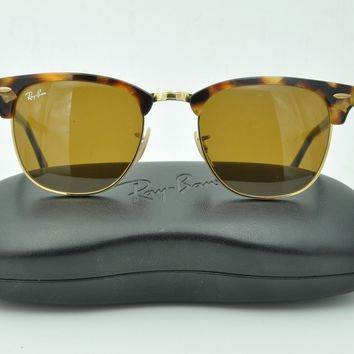 Ray Ban RB 3016 CLUBMASTER Sunglasses 1160 Tortoise / Brown lenses 51mm