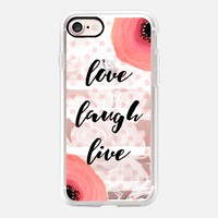 Love Laugh Live iPhone 7 Capa by Li Zamperini Art | Casetify