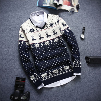 Men's Holiday Deer Sweater