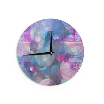 "Marianna Tankelevich ""Dream Houses"" Wall Clock"