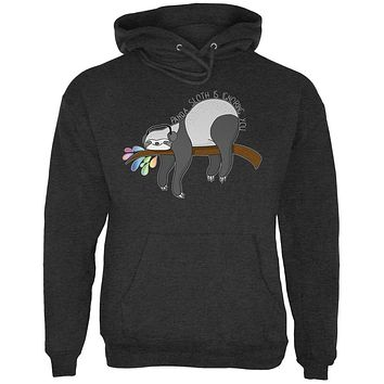 Panda Sloth is Ignoring You Mens Hoodie