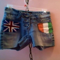 One Direction Painted Shorts by KelseyAnneRandom on Etsy