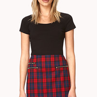 Prep School Plaid Skirt