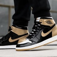 "Air Jordan 1 Retro High OG NRG ""Gold Top 3"""