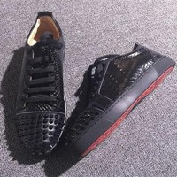Cl Christian Louboutin Low Style #2058 Sneakers Fashion Shoes