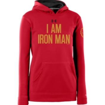 Under Armour Boys' Alter Ego Iron Man Armour Fleece Storm Hoodie