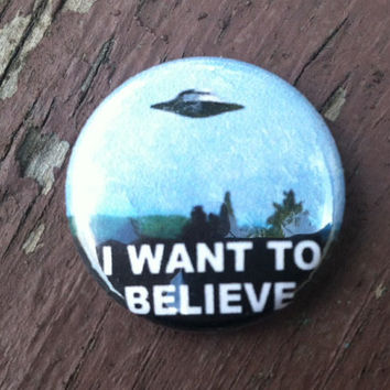 I want to believe x-files ufo poster Button 1inch